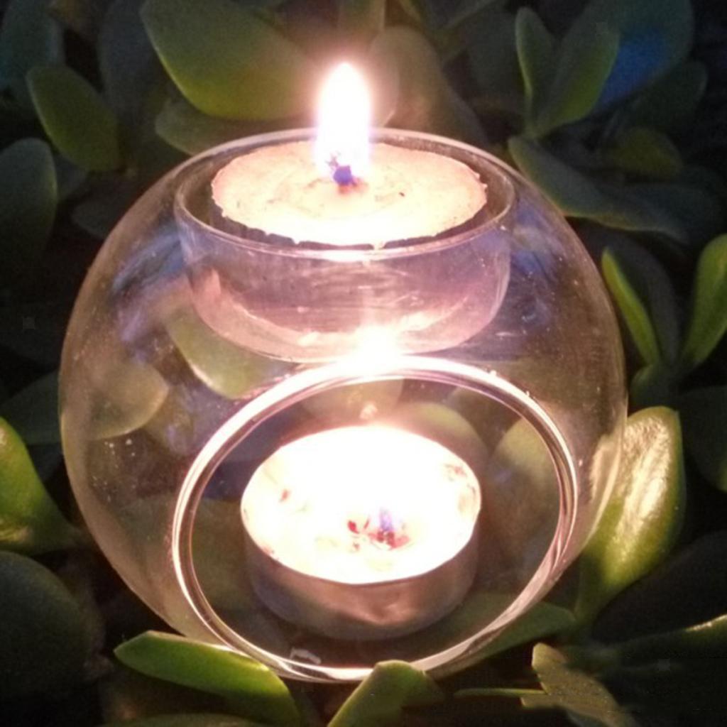 Elegant-Tea-Light-Glass-Candle-Holders-Wedding-Table-Centrepiece-Wax-Pillar-Case thumbnail 5