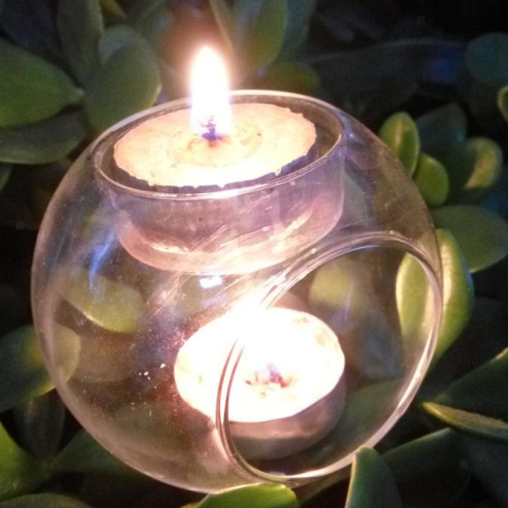 Elegant-Tea-Light-Glass-Candle-Holders-Wedding-Table-Centrepiece-Wax-Pillar-Case thumbnail 3