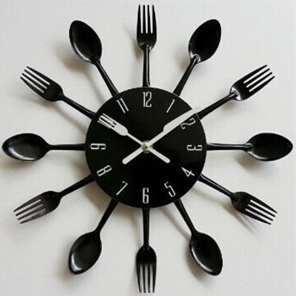 Detalles de 3D Reloj de Pared de Cuchara de Cocina Diseño Creativo de 12  Horas
