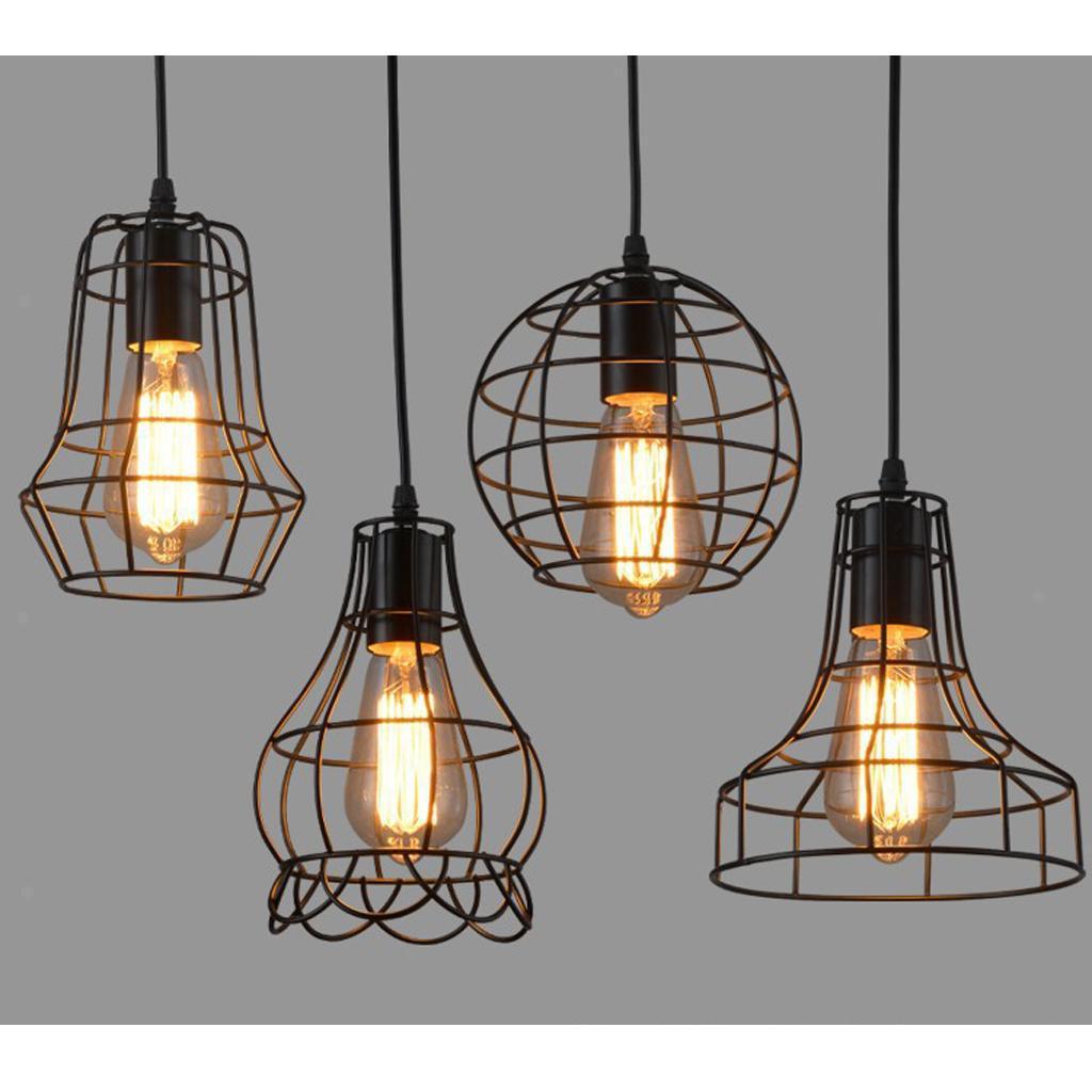 E27-Metal-Lampshade-Ceiling-Vintage-Retro-Chandelier-Fitting-LED-Pendant-Light thumbnail 11