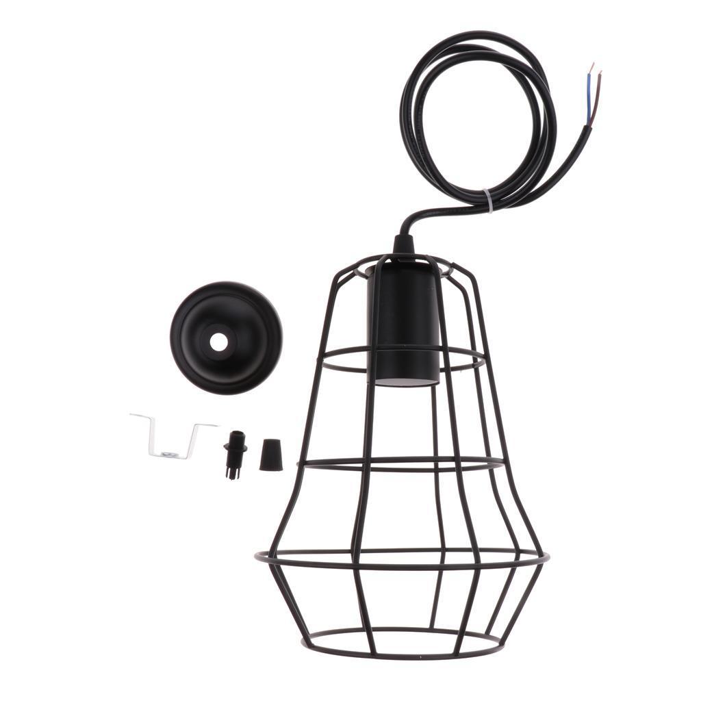 E27-Metal-Lampshade-Ceiling-Vintage-Retro-Chandelier-Fitting-LED-Pendant-Light thumbnail 8