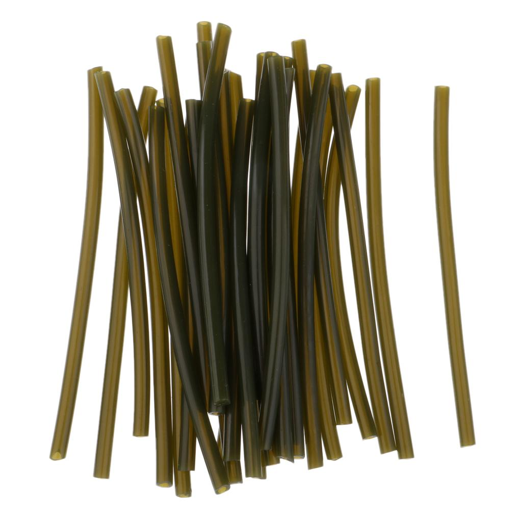 5Pcs High Elasticity Rig Tubes Sleeves for Carp Fishing Hair Rigs DIY Tackle