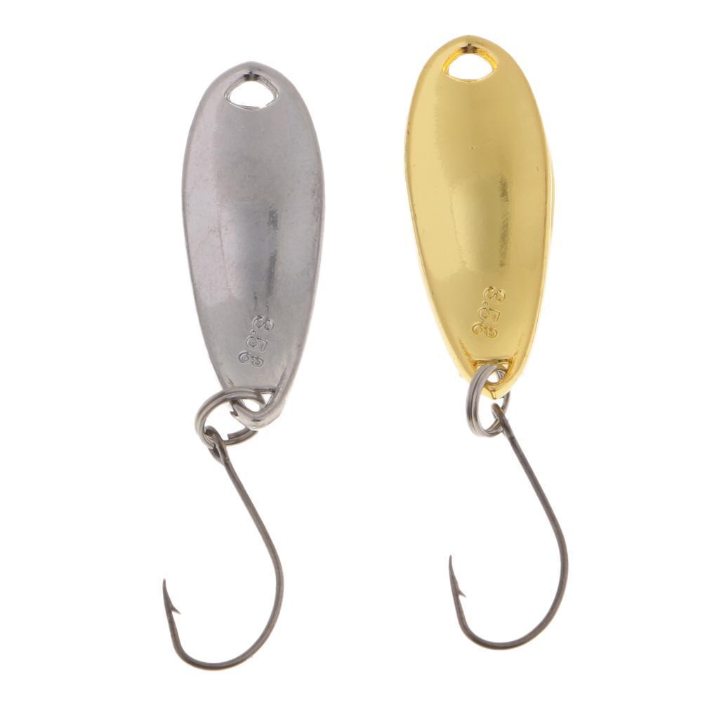 2-Pcs-Cucchiai-In-Metallo-Esche-Da-Pesca-Con-PaillettesRichiami-Rigidi-Con miniatura 11