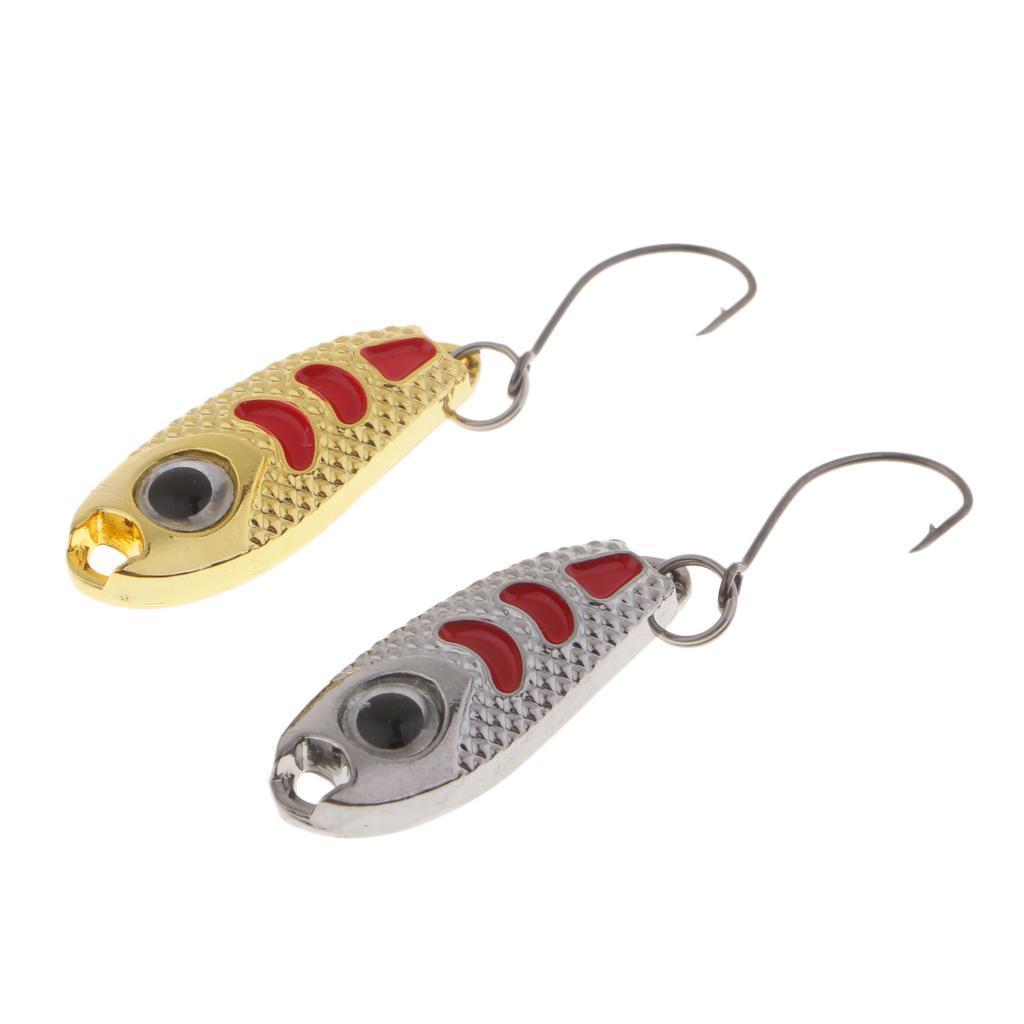 2-Pcs-Cucchiai-In-Metallo-Esche-Da-Pesca-Con-PaillettesRichiami-Rigidi-Con miniatura 12