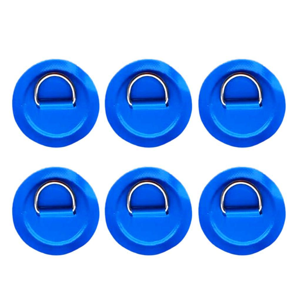 12-Pezzi-in-Acciaio-D-Ring-Pad-Patch-per-PVC-Gommone-Barca-Gonfiabile miniatura 9