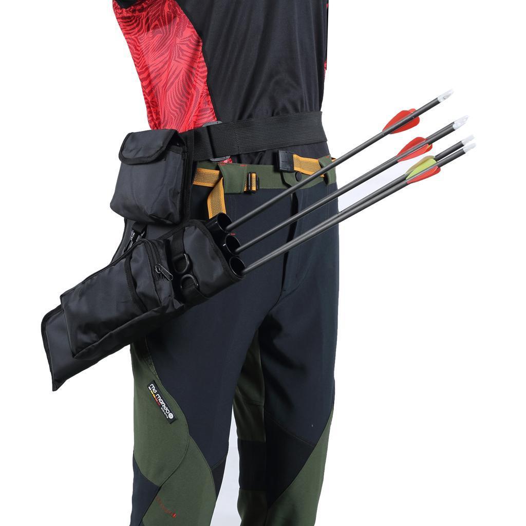 Archery-4-Tube-Camo-Arrow-Quiver-Holder-Belt-Waist-Bow-Hunting thumbnail 14