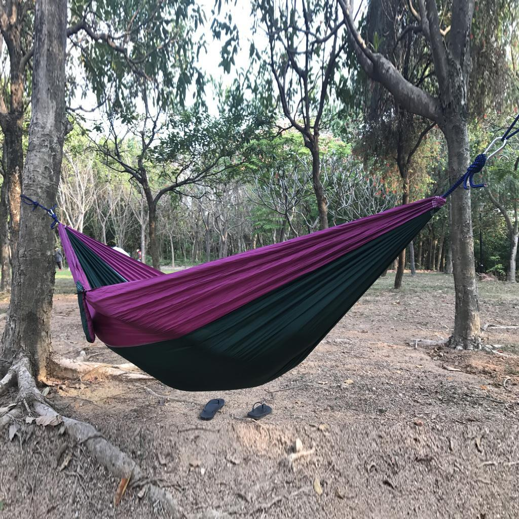 hamac-de-camping-voyage-double-personne miniature 9