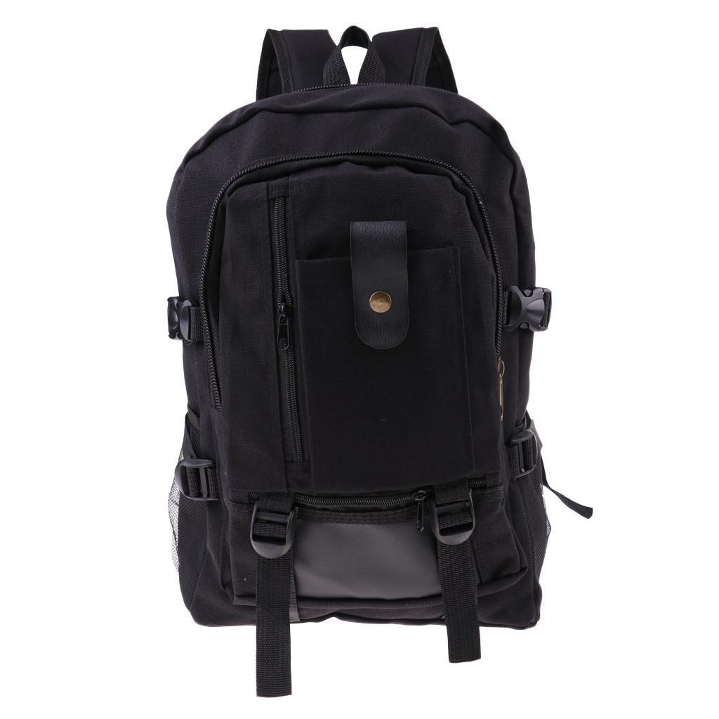 Sac-a-dos-En-Toile-Sac-D-039-ordinateur-Portable-Cartable-Pack-De-Sport-En miniature 23
