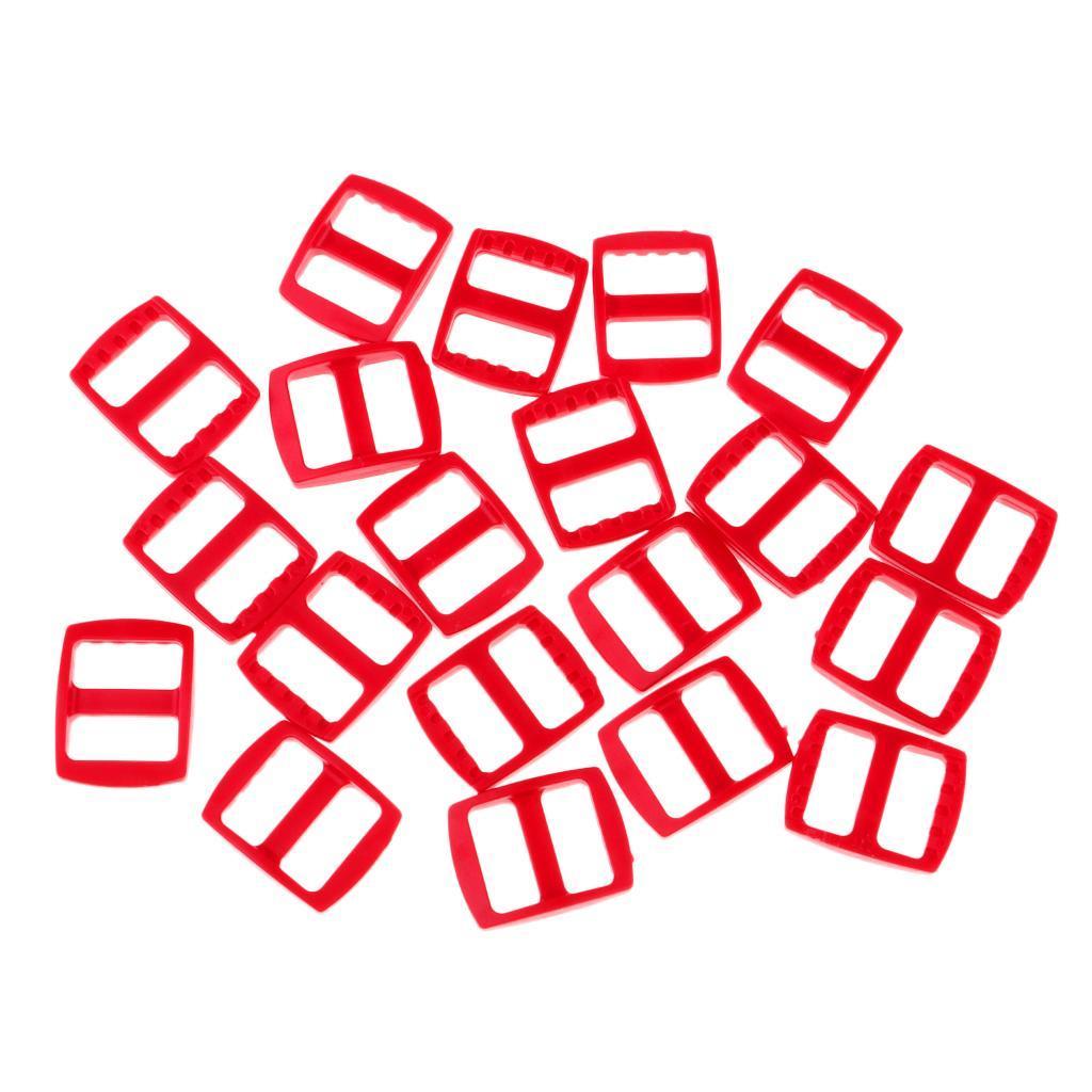 20-Pezzi-di-Fibbia-a-Tessitura-Webbing-Buckle-Accessori-di-Campeggio miniatura 12