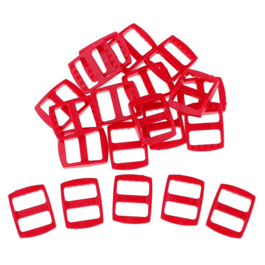 20-Pezzi-di-Fibbia-a-Tessitura-Webbing-Buckle-Accessori-di-Campeggio miniatura 10