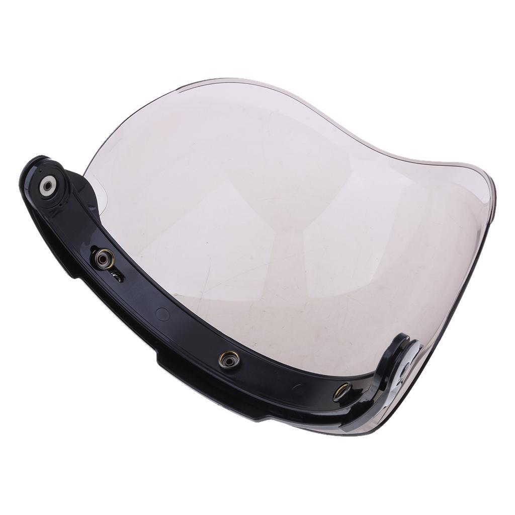 3-Button-Flip-Up-Bubble-Visor-Shield-for-Open-Face-Motorcycle-Helmet thumbnail 4