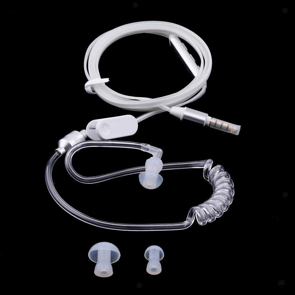 Auricolare-Anti-Radiazioni-Mono-Cuffie-Stereo-Sicurezza-Aria-Tubo-Mic-Flessibile miniatura 8