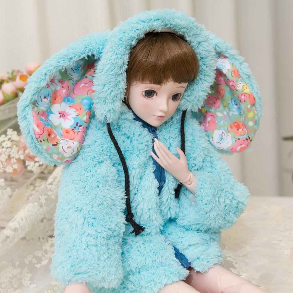 BJD-Doll-Bunny-Coat-for-1-3-SD-DELF-DOT-Dollfie-Doll-Clothes-Accessory thumbnail 4
