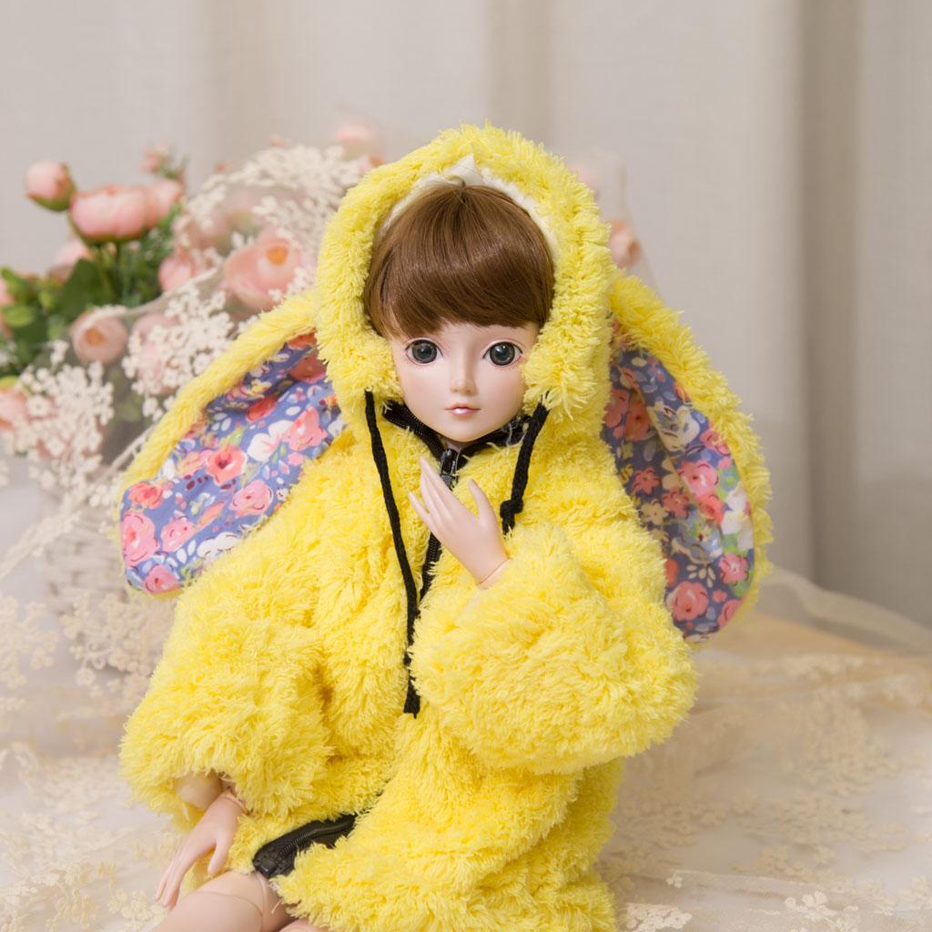 BJD-Doll-Bunny-Coat-for-1-3-SD-DELF-DOT-Dollfie-Doll-Clothes-Accessory thumbnail 9