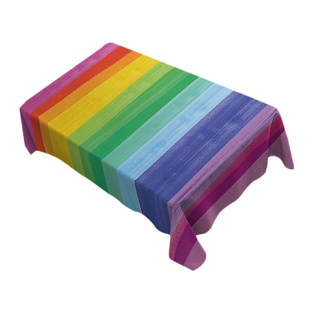 Rectangulaire-Nappe-de-Table-Couverture-Impermeable-Embellissement-de-Table miniature 35