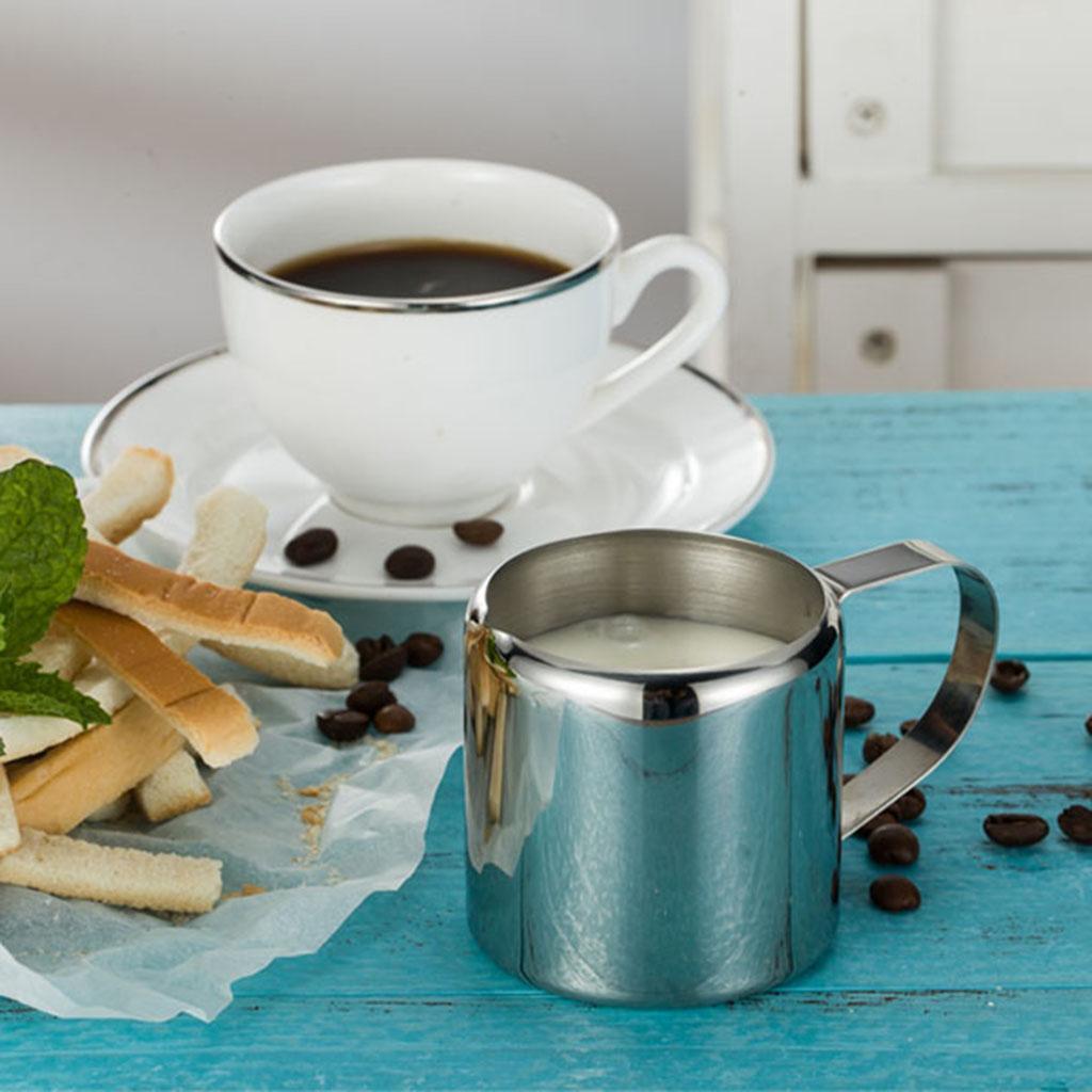 perfekt für Espressomaschinen, Edelstahl Milch Aufschäumende Krug