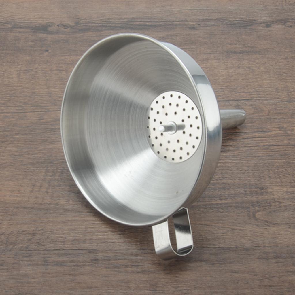miniatura 13 - Imbuto-da-Cucina-con-Filtri-Rimovibile-per-Imbuto-In-Acciaio-Inox-con
