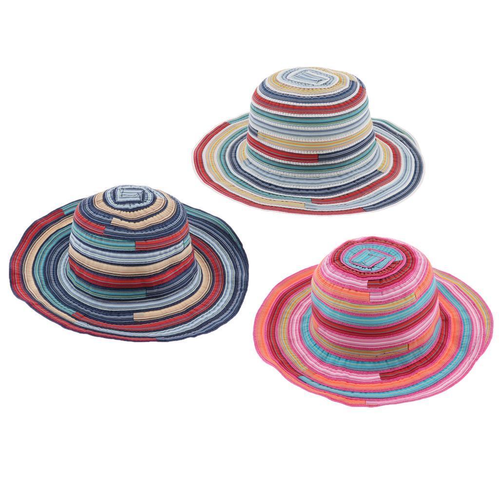 Cappello-da-pesca-a-tesa-larga-da-donna-Cappello-estivo-da-spiaggia-Cappello miniatura 6