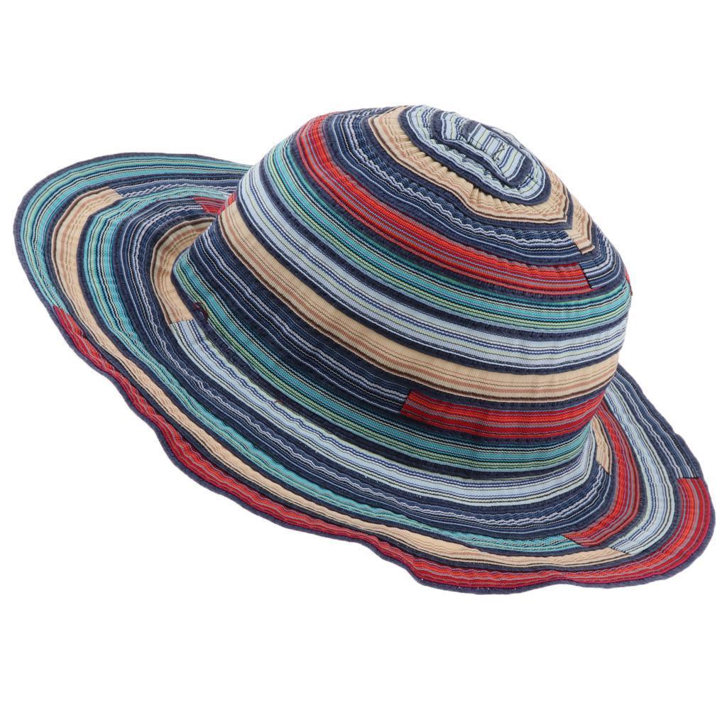 Cappello-da-pesca-a-tesa-larga-da-donna-Cappello-estivo-da-spiaggia-Cappello miniatura 3
