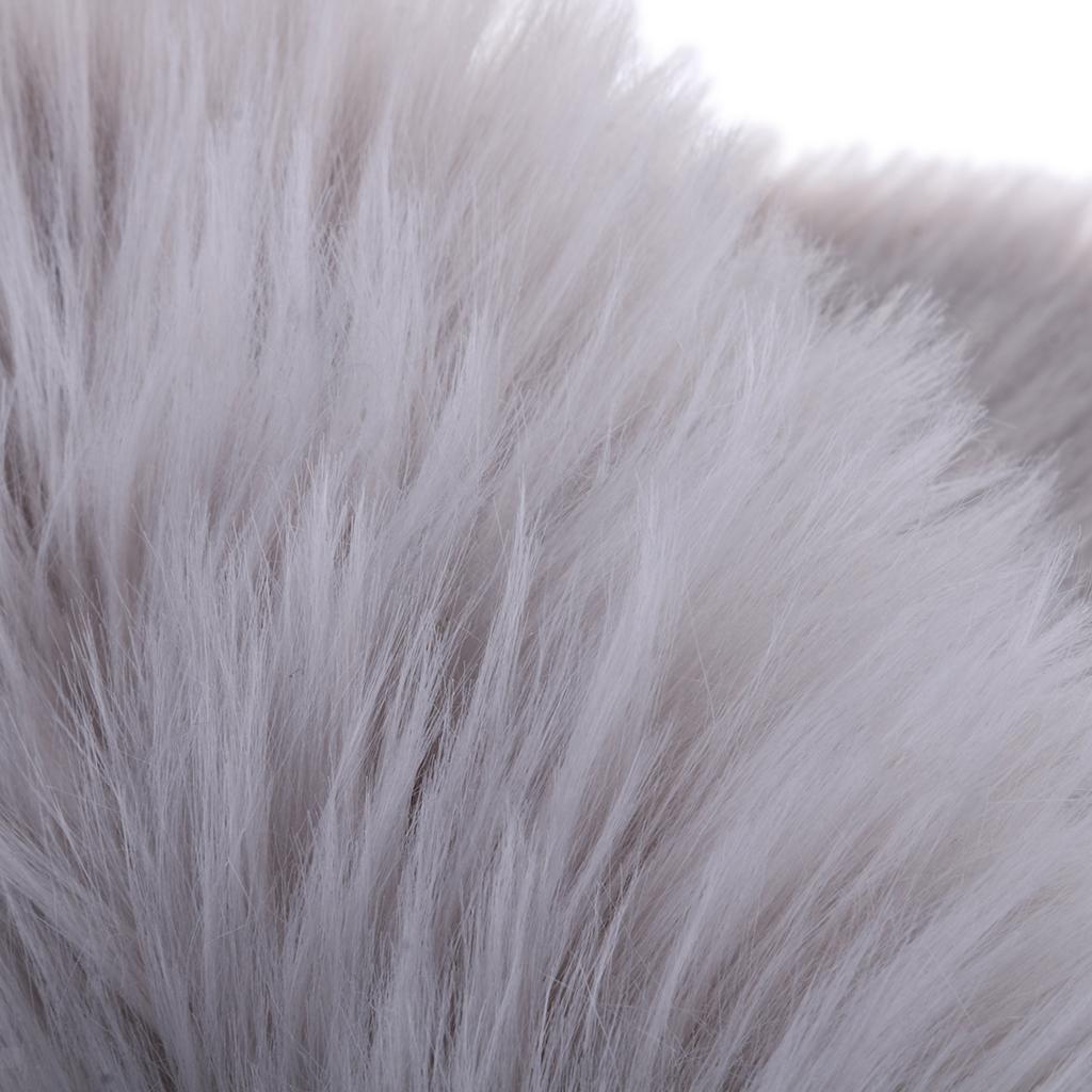 Soft Fluffy Bedroom Faux Fur Fake Non Slip Sheepskin Rugs