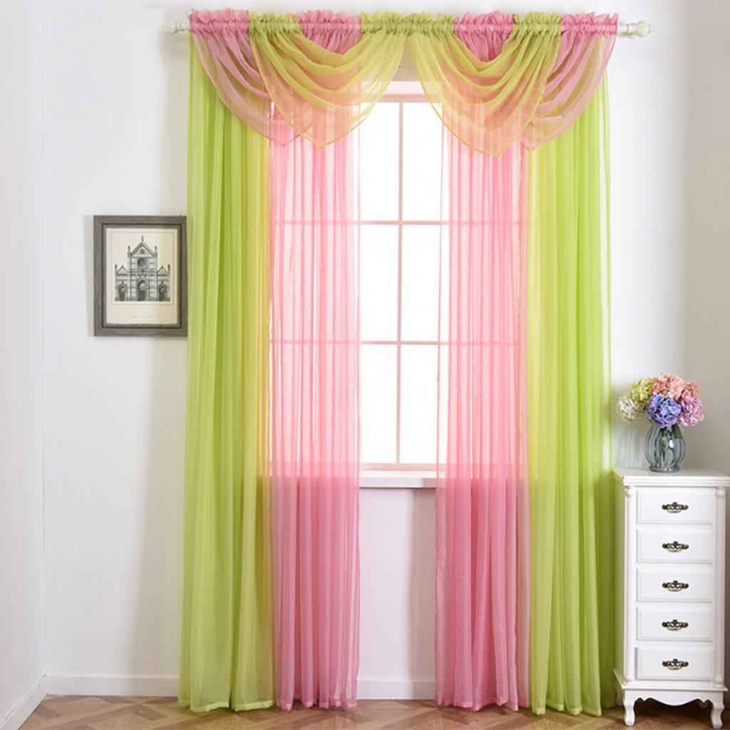 VOILE SWAG CURTAIN WINDOW Swags Drape Pelmet Valance For
