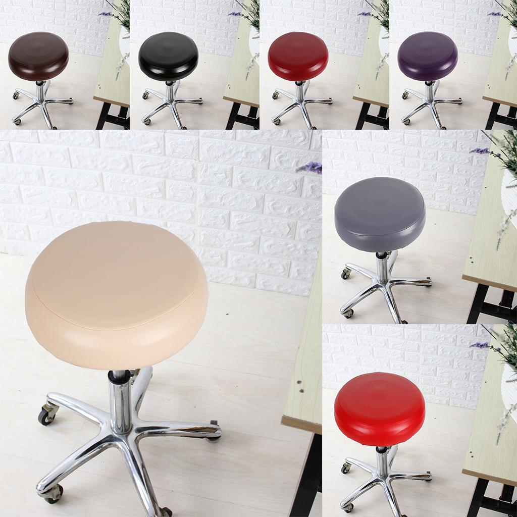 Details About Waterproof Elastic Bar Stool Cover Swivel Round Seat Slip Cover Pu Leather