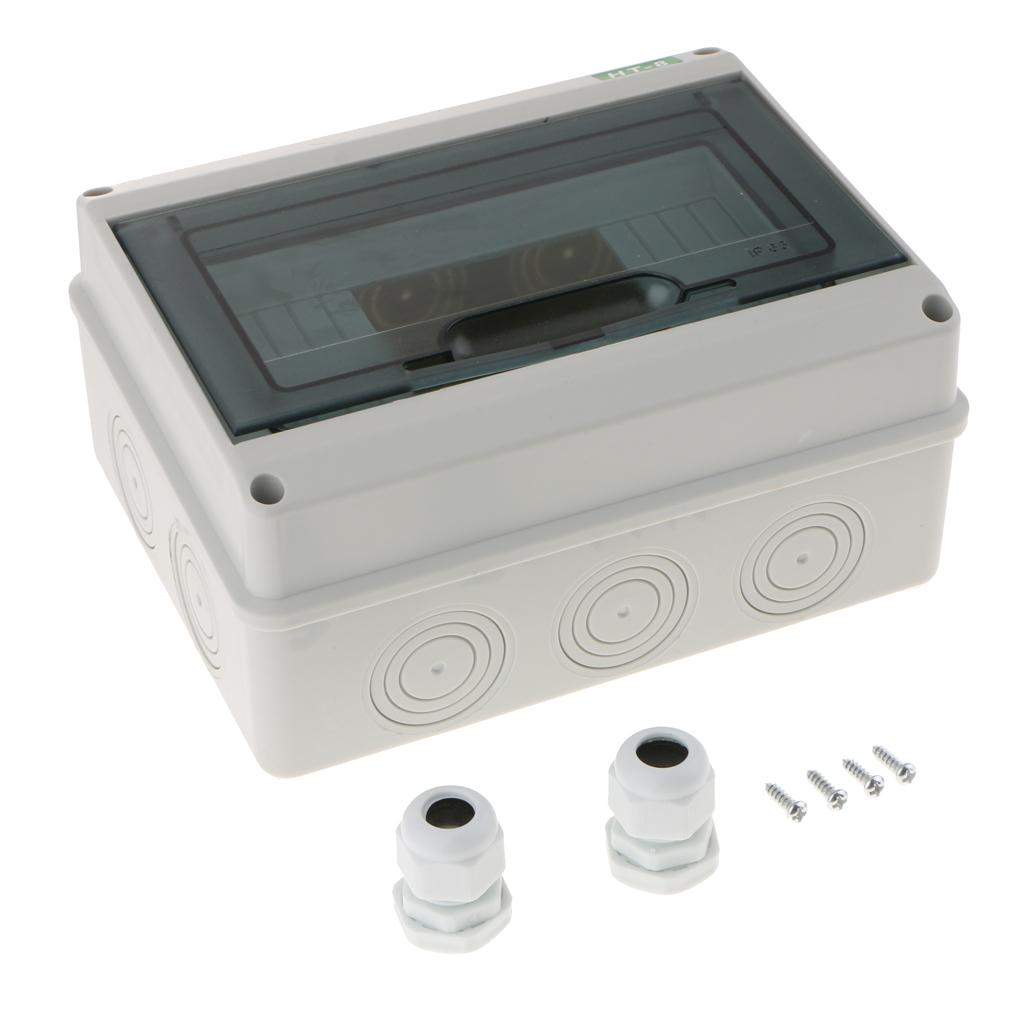 5//8 Ways Distribution Box Waterproof Outdoor Switch Box for Circuit Breake