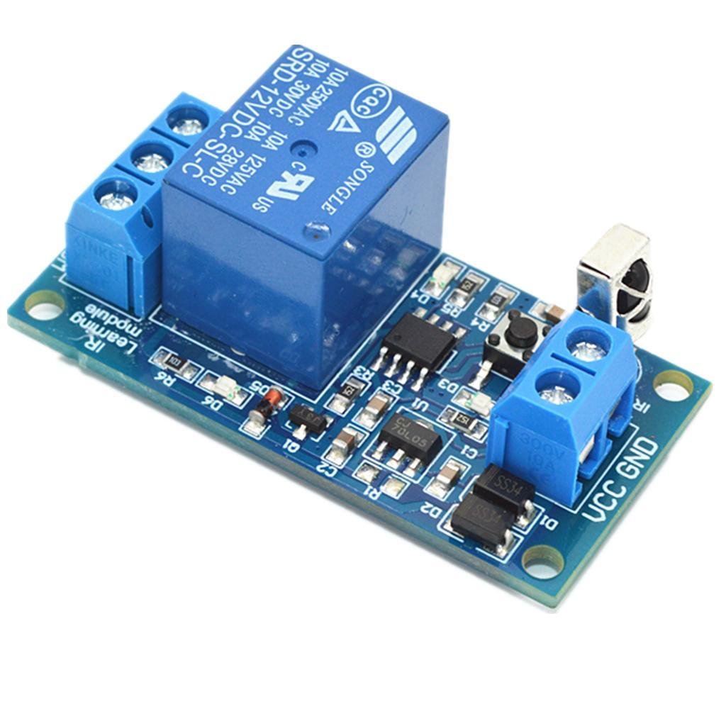1-Way-Infrared-Relay-Module-With-Remote-Control-Support-5V-12V-24V-Switch thumbnail 9
