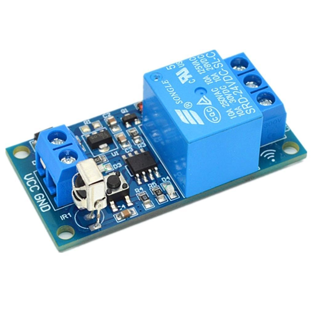 1-Way-Infrared-Relay-Module-With-Remote-Control-Support-5V-12V-24V-Switch thumbnail 15