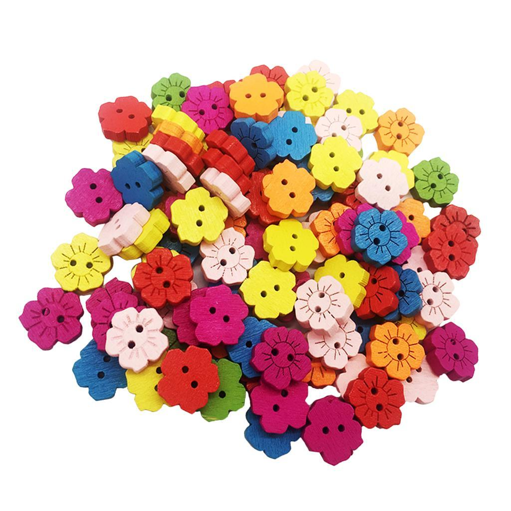 100Pcs-Mixed-Color-2-Holes-Wooden-Buttons-Sewing-Craft-Scrapbooking-DIY-Handmade thumbnail 21