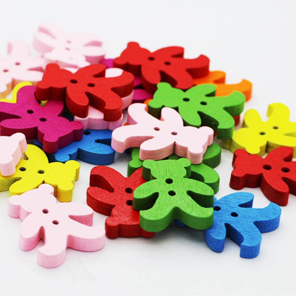 100Pcs-Mixed-Color-2-Holes-Wooden-Buttons-Sewing-Craft-Scrapbooking-DIY-Handmade thumbnail 15
