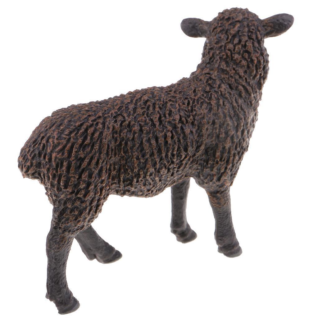 Mini Educational Farm Animal Toy Plastic Sheep Goat Figure Fun Party Gift G