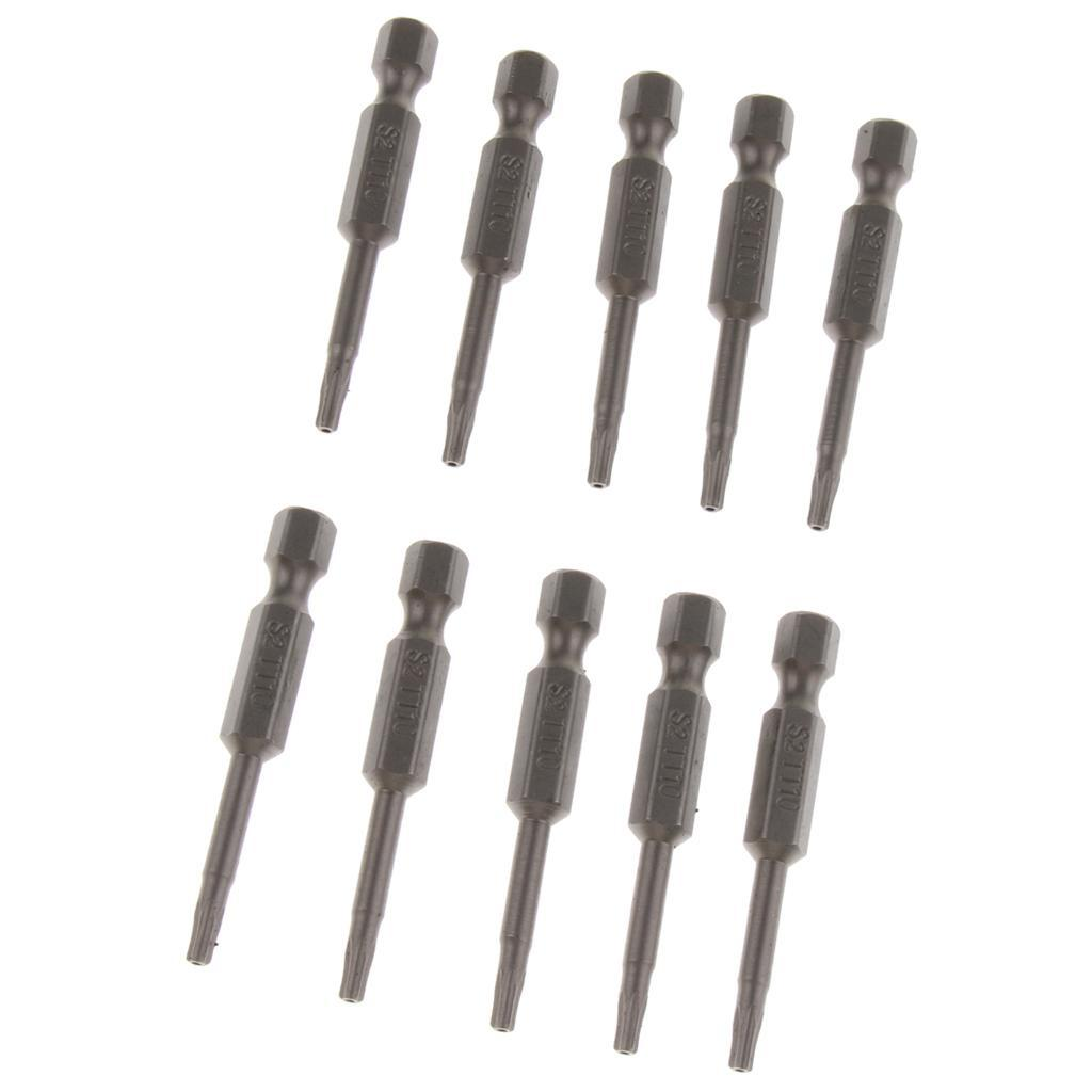 10pcs-Drill-Bits-Set-Screwdriver-Bits-T6-T15-1-4-034-Shank-S2-Alloy-Steel thumbnail 6