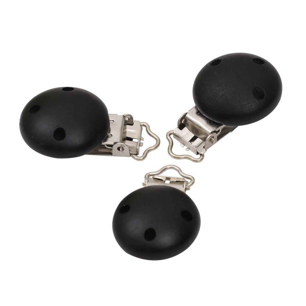 15pcs-rond-sucette-clip-perle-en-bois-bebe-dentition-accessoires-bricolage miniature 17