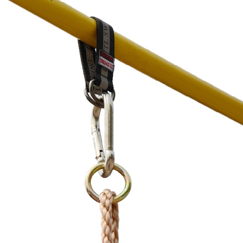 Garden-Swing-Set-Seat-Rope-Hanging-Strap-Connector-Metal-Chain-Kid-Adult-Outdoor miniatuur 35