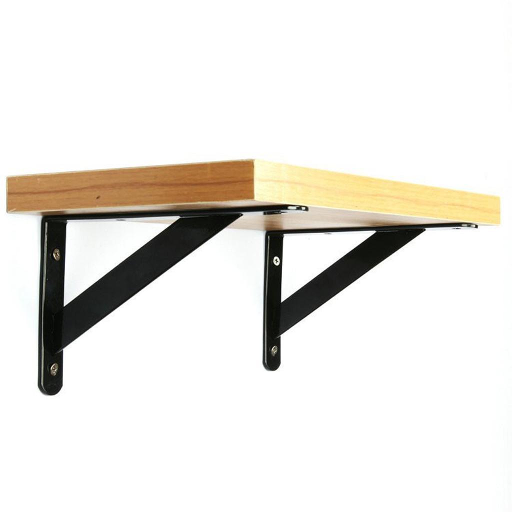 Cast-Iron-Shelf-Brackets-Supporter-Heavy-Duty-Load-Metal-Strong-Reinforced-Pairs miniature 11