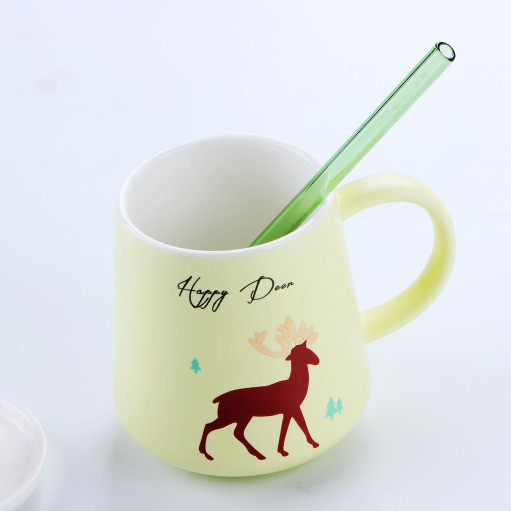 4PCS-Glass-Drinking-Straws-Milk-Juice-Water-Cocktail-Wine-Smoothie-Straws thumbnail 24