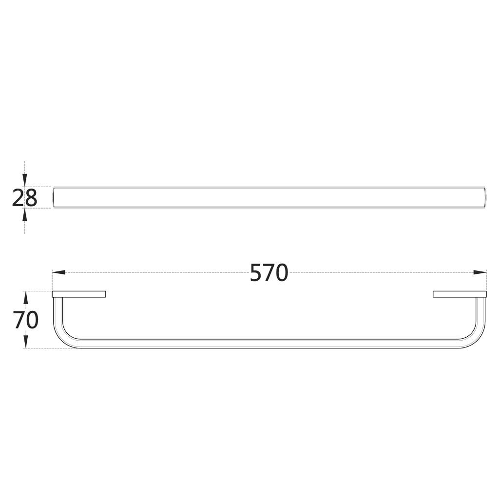 Barra-Visualizzazione-Singola-Portasciugamani-Asta-Gancio-Abbellimenti-Porta miniatura 6