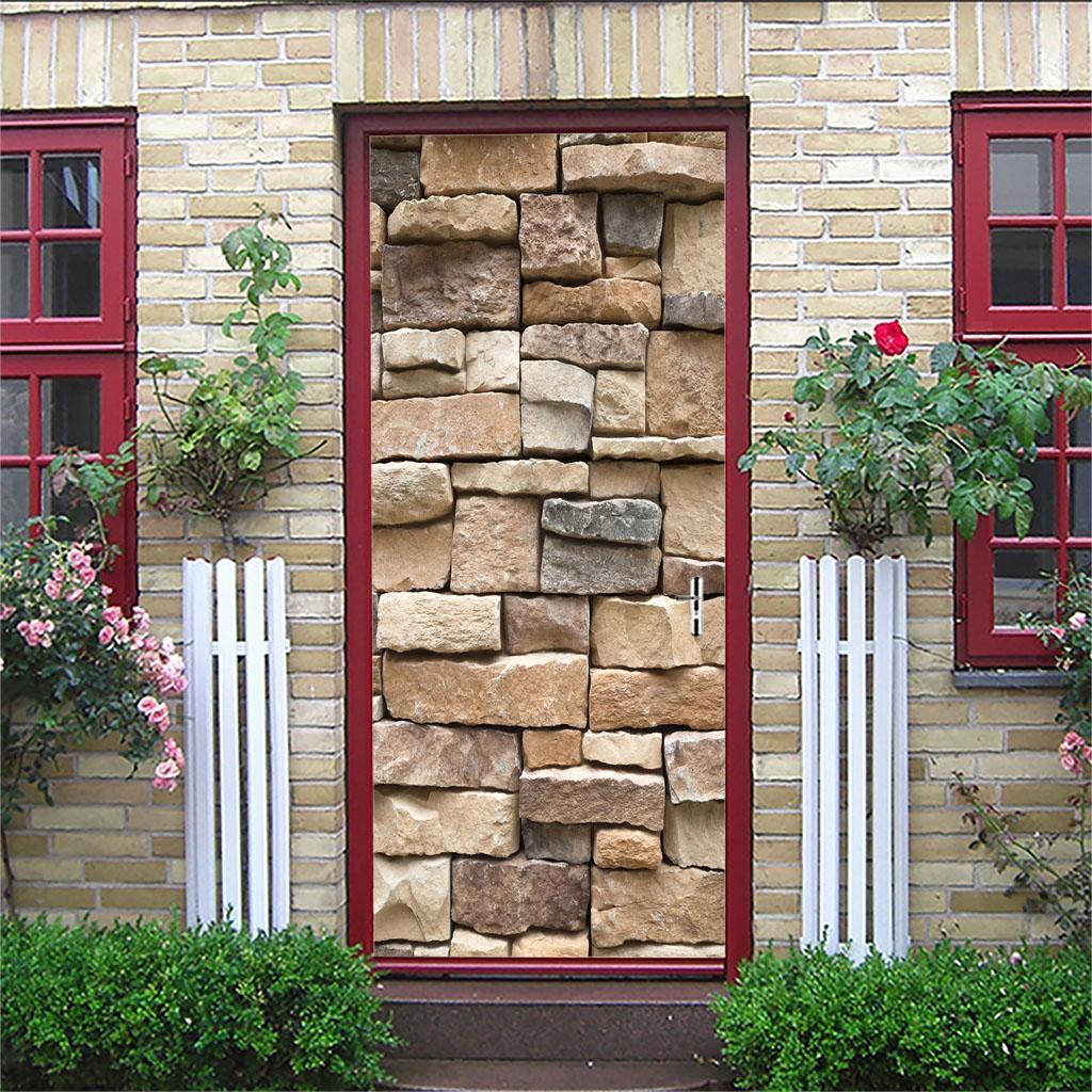 thumbnail 58 - 3D Self Adhesive Door Sticker DIY Decor Poster for Home Room Decor