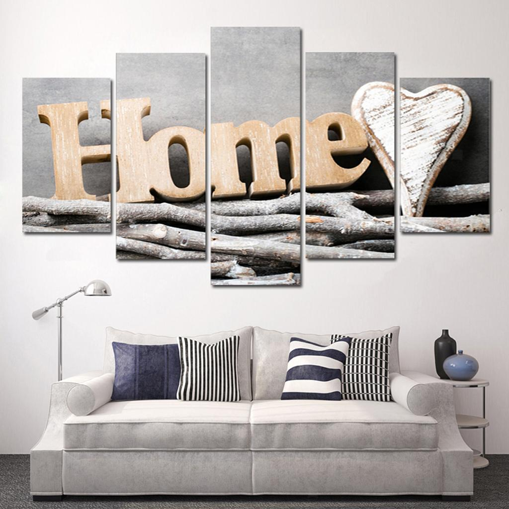 Details About 5 Pieces Hd Canvas Prints Oil Paintings Living Room Artwork Framed Pictures