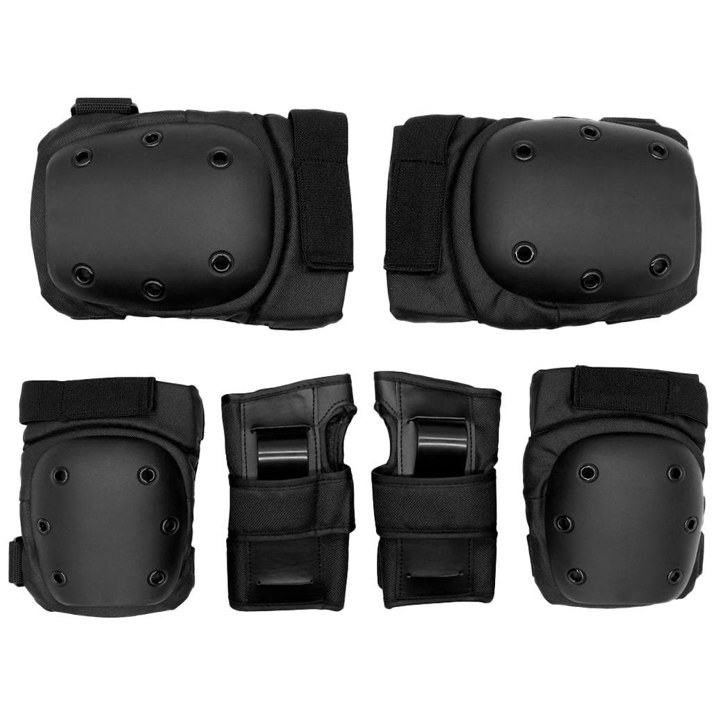 Set-6-Knee-Elbow-Wrist-Pad-Protective-Guard-Cap-for-Skateboard-Cycling-Skate thumbnail 9
