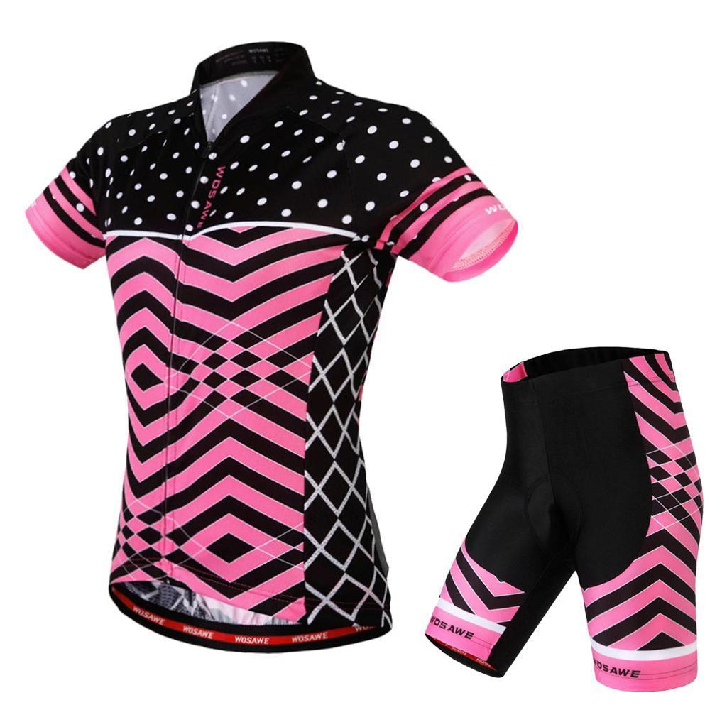 Velo-de-route-Velo-Femmes-Cyclisme-Manches-Courtes-Maillots-Haut-T-shirt miniature 9