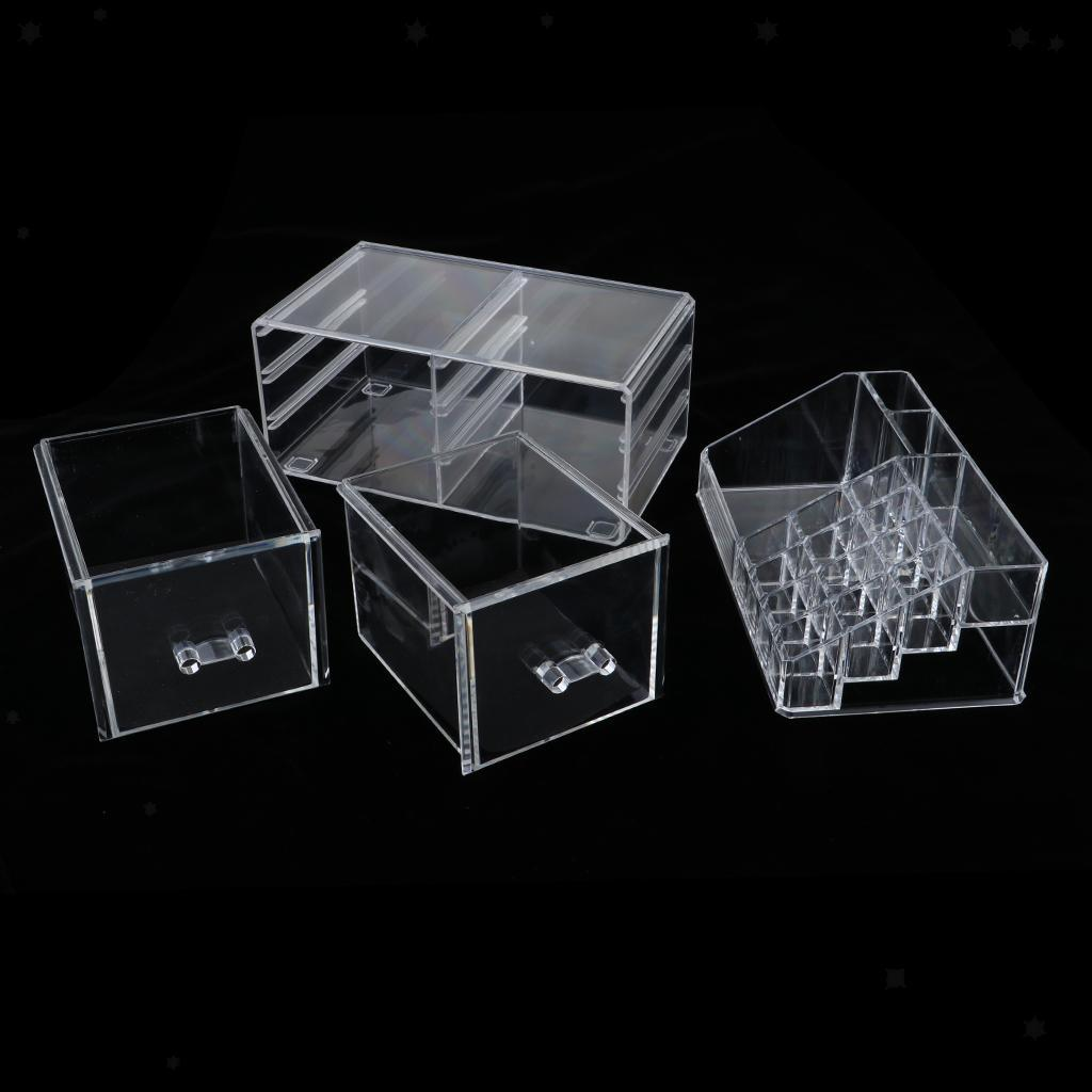 Acrylic Jewelry Cosmetic Storage Display Boxes Drawer Room