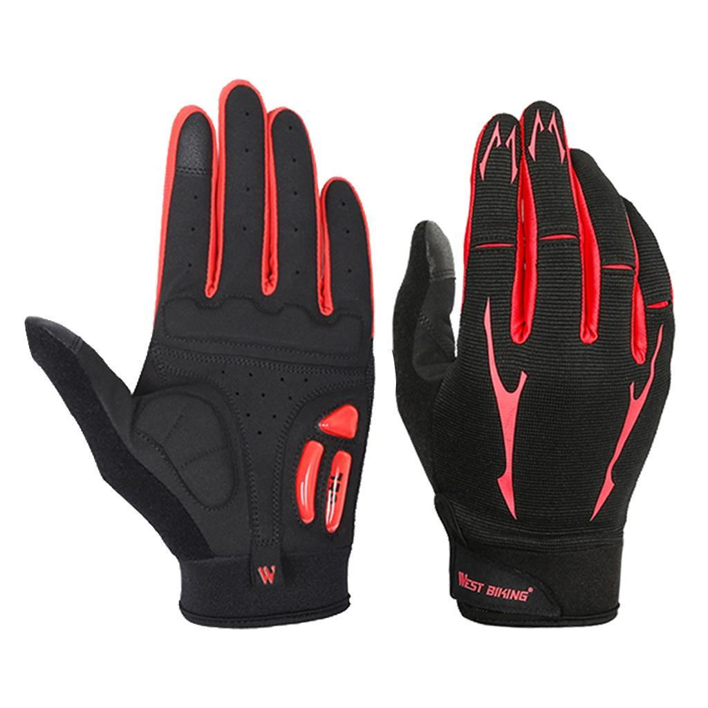 Full-Finger-Breathable-Gloves-Touch-Screen-Motorcycle-Bicycle-Riding-Mittens miniature 3