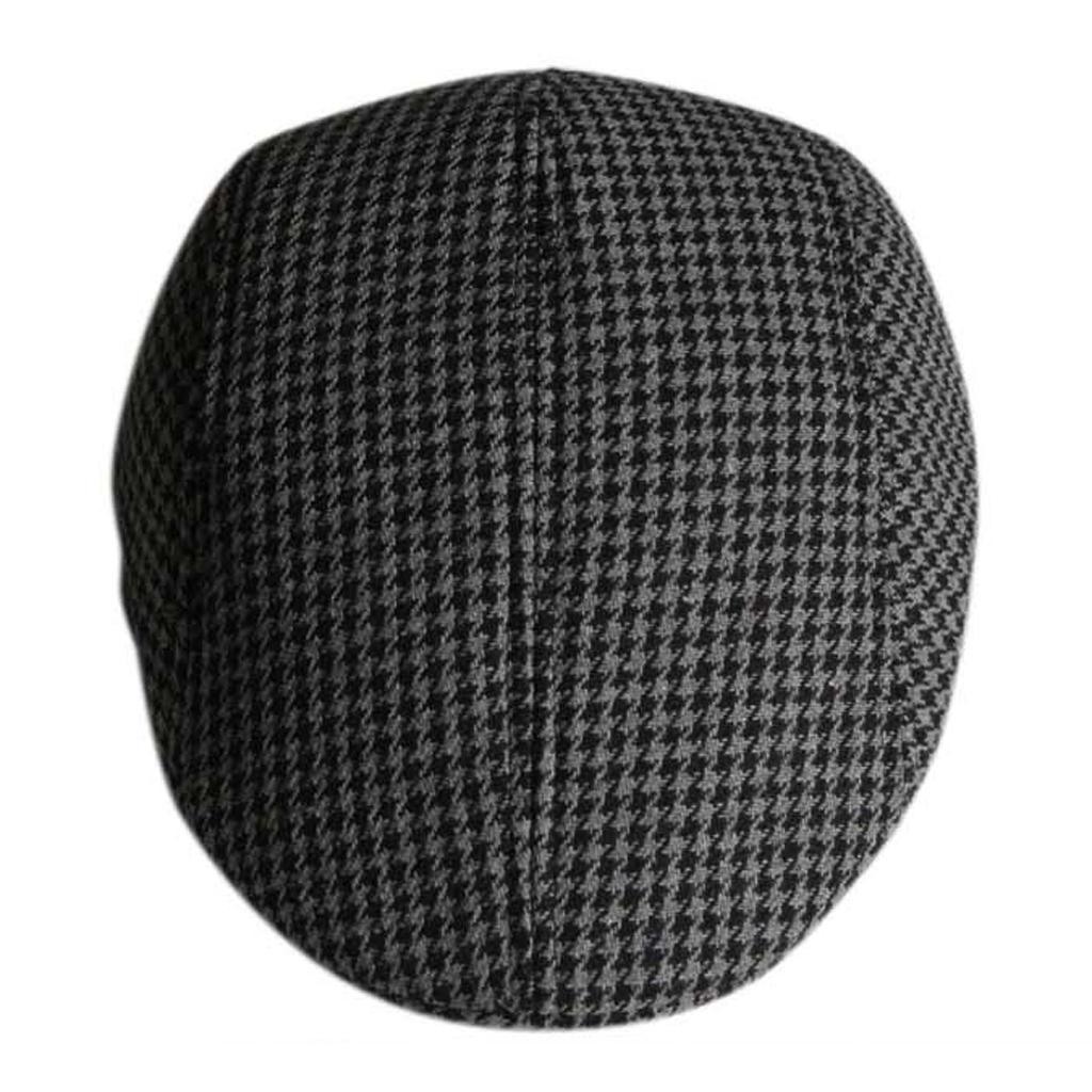 Garcon-Filles-Baseball-Beret-Casquette-Flat-Peaked-Toddler-Houndstooth-Cap-Decor miniature 2