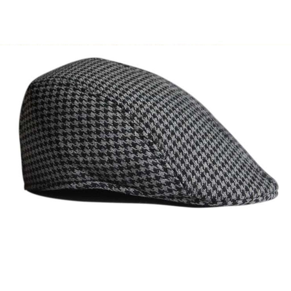 Garcon-Filles-Baseball-Beret-Casquette-Flat-Peaked-Toddler-Houndstooth-Cap-Decor