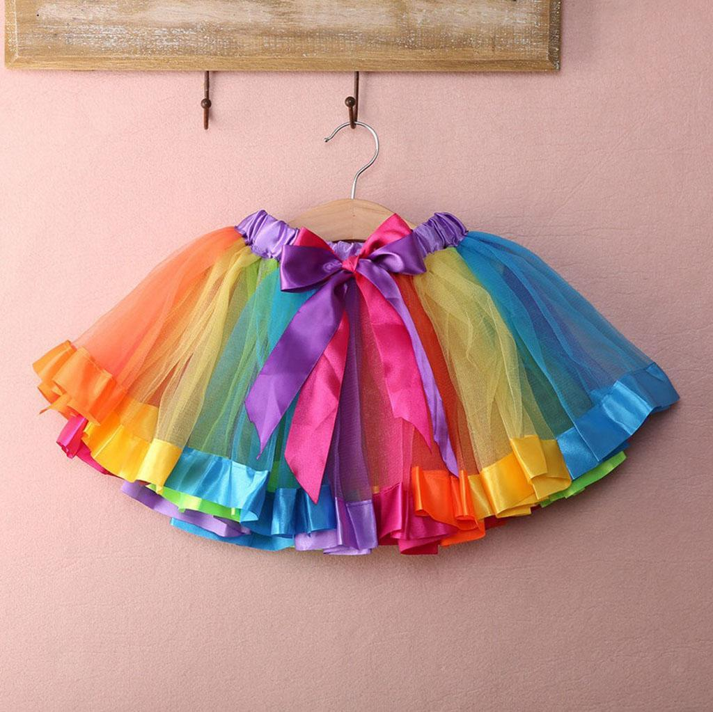 JupeTutu-Bebe-Filles-Enfants-Costume-De-Fete-Fantaisie-Tutu-Pettiskirt miniature 9