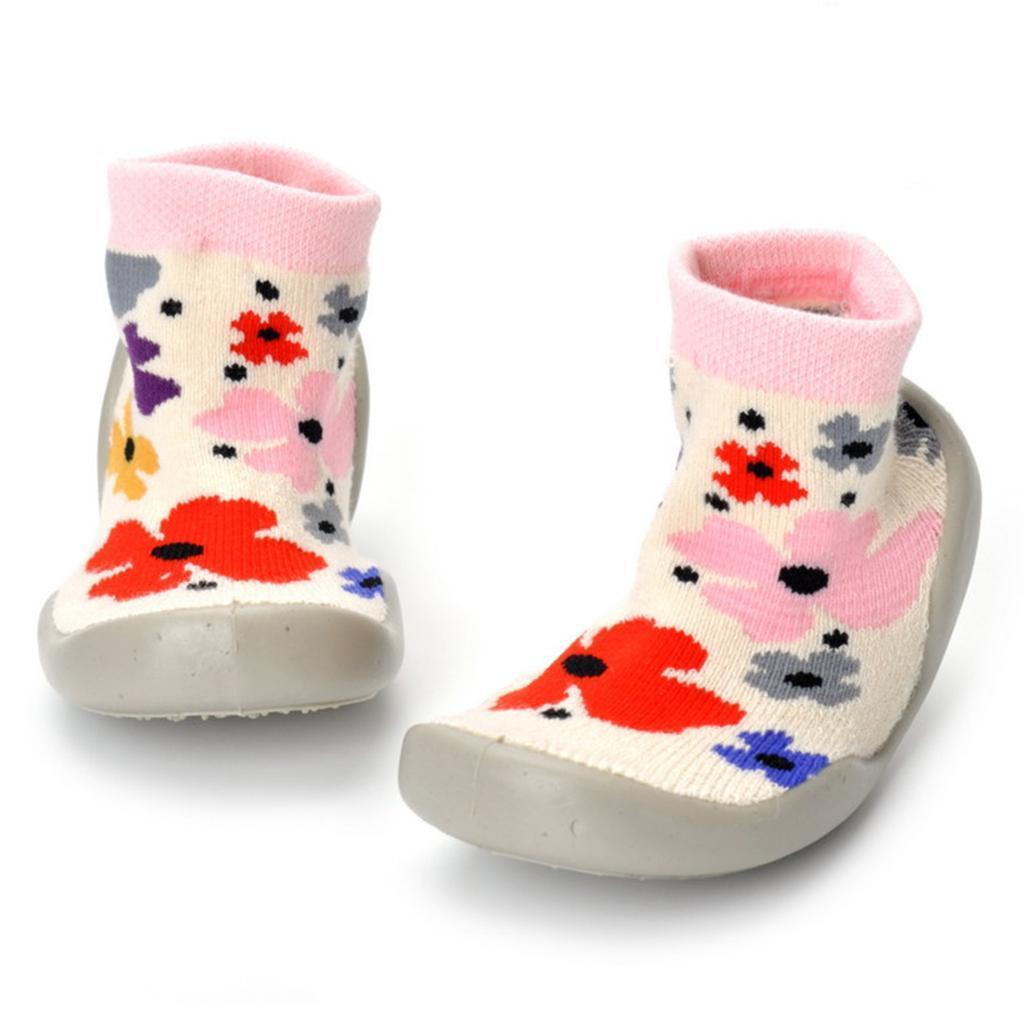 Chausson-Botte-Chaud-Garcon-Fille-Premier-pas-Imprime-Chaussure-Antiglissement miniature 19
