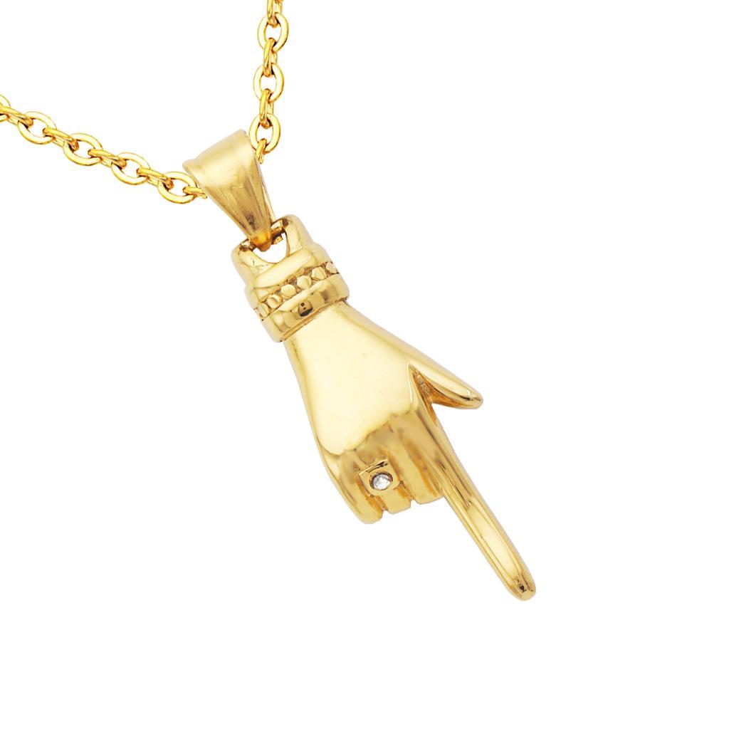 Cha/îne en acier inoxydable avec pendentif en forme de croix pour homme