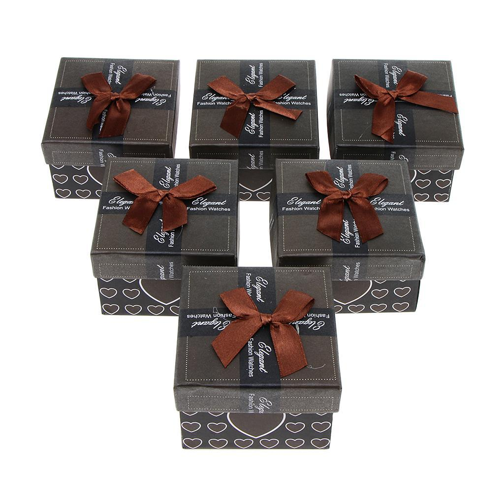 6pcs-Paper-Cardboard-Jewelry-Gift-Boxes-Watch-Ring-Earring-Bracelet-Storage thumbnail 13